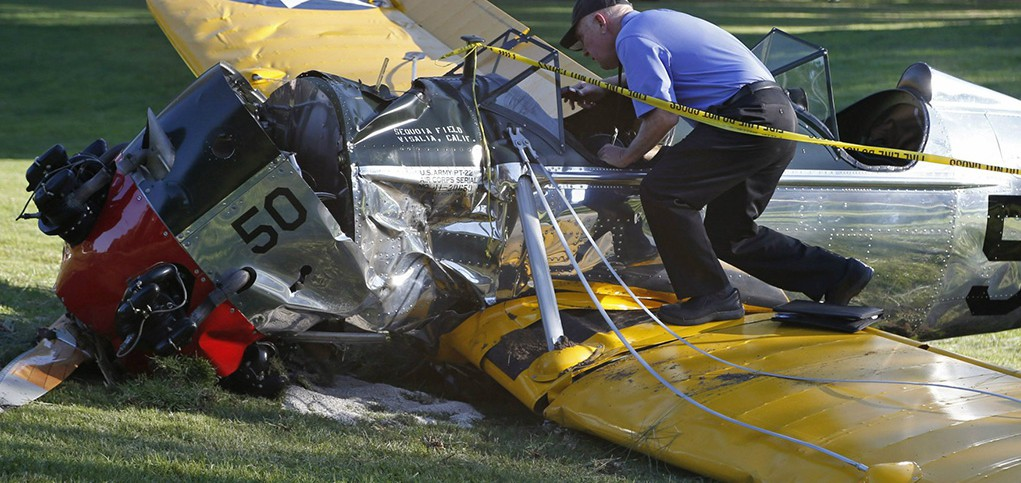 Accidente Harrison Ford