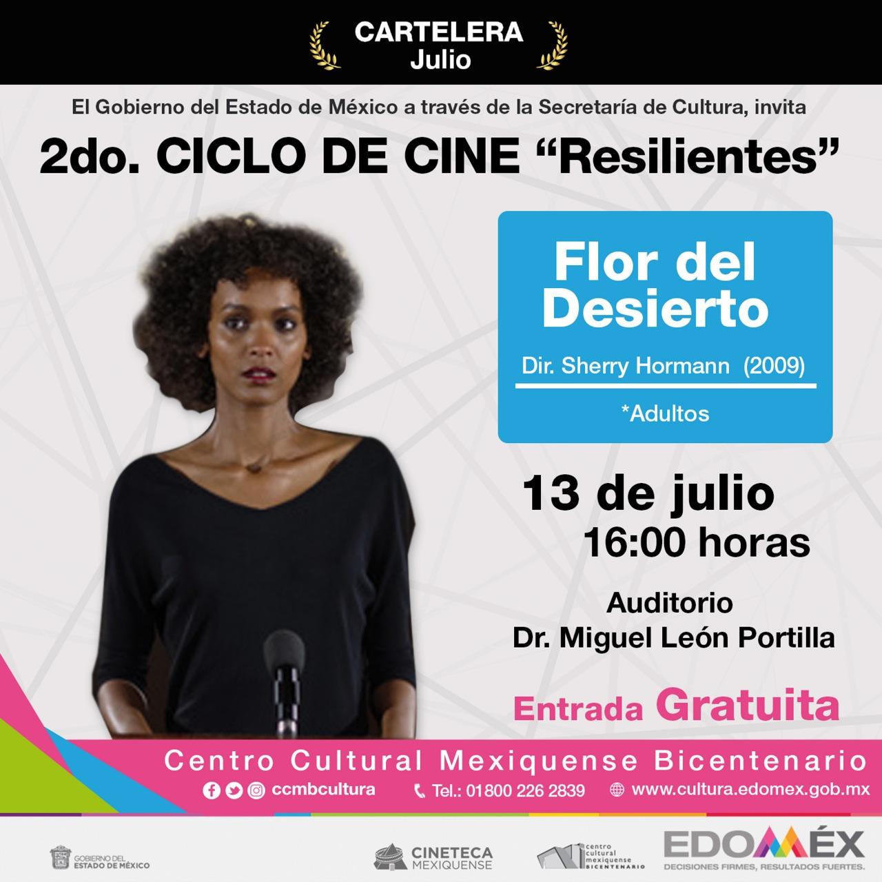 """Asiste al ciclo de cine """"Resilentes"""" en el Centro Cultural Bicentenario - Jul 2, 2019"""