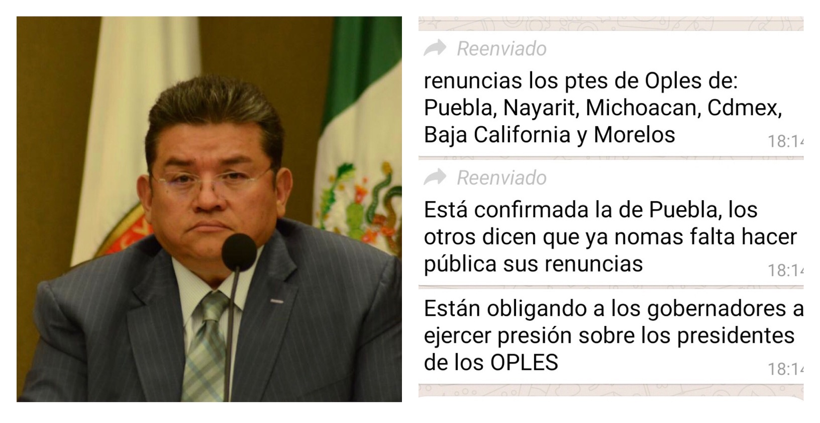 Sorpresivas renuncias en presidencias de OPLES. Pedro Zamudio pensativo.