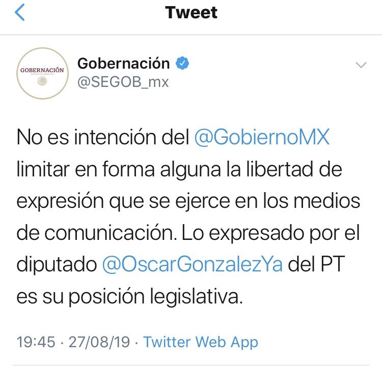 Gobierno de México se deslinda de propuesta del PT.