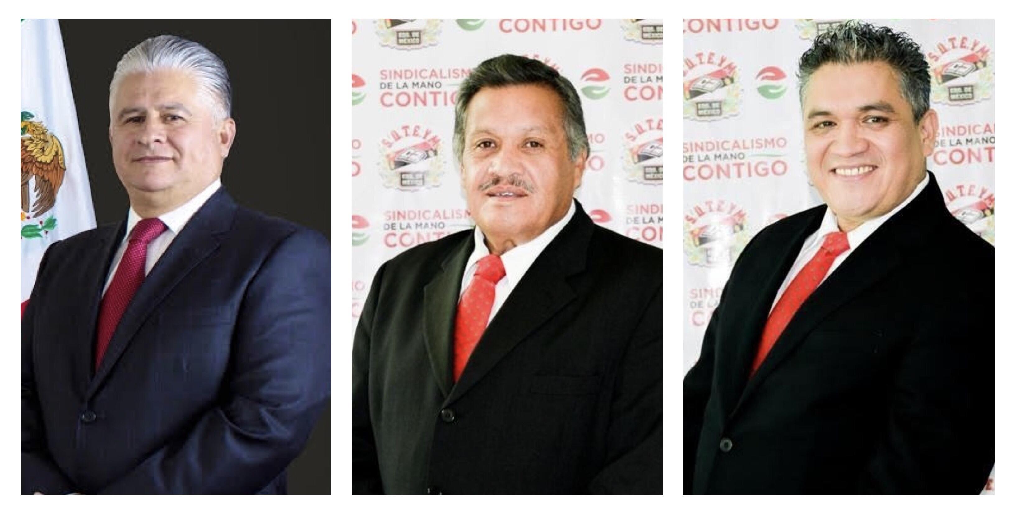 Herminio Cahue, Antonio Duarte y René Palomares en la puja por el SUTEYM