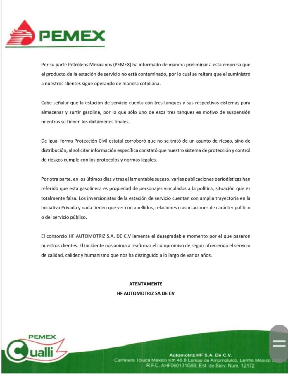 Se deslinda gasolinera por incidente en la México-Toluca - Oct 27, 2019