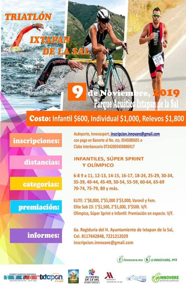 """Presentan Triatlón Recreativo """"Encuentra tu felicidad"""" Ixtapan de la Sal - Oct 15, 2019"""