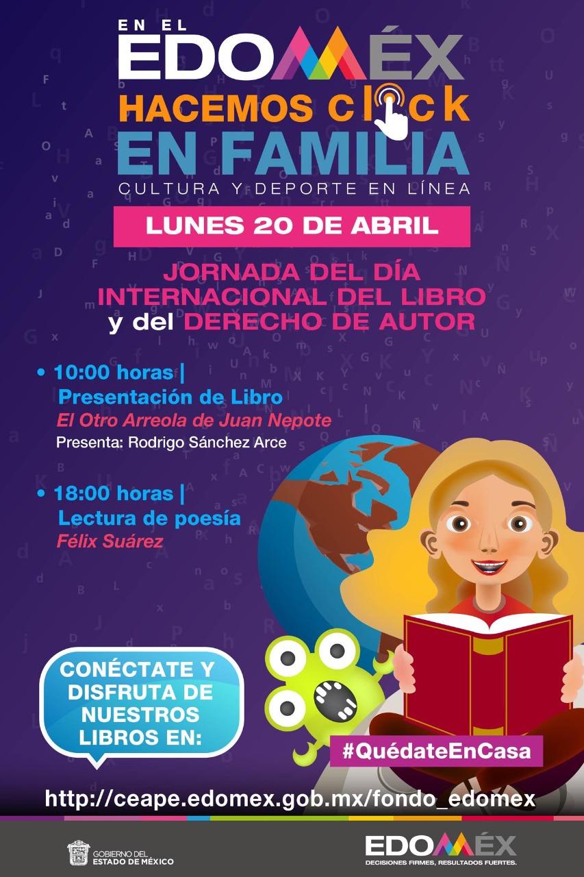 Celebra Secretaría de Cultura y Deporte día internacional del libro - Abr 19, 2020