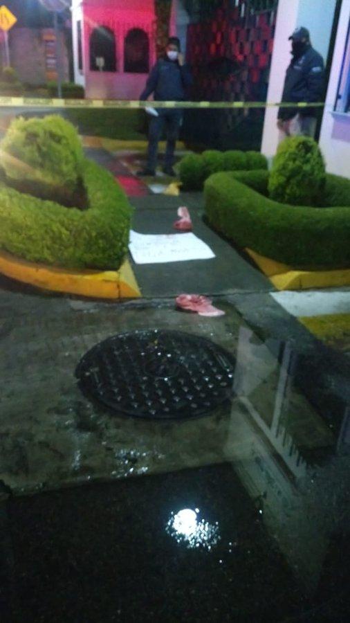 Amenazan a persona en Metepec con restos de cerdo y un mensaje - Jul 22, 2020