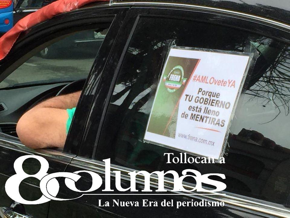 Realizan quinta caravana contra AMLO en Toluca, hasta mariachi llevaban - Jul 26, 2020