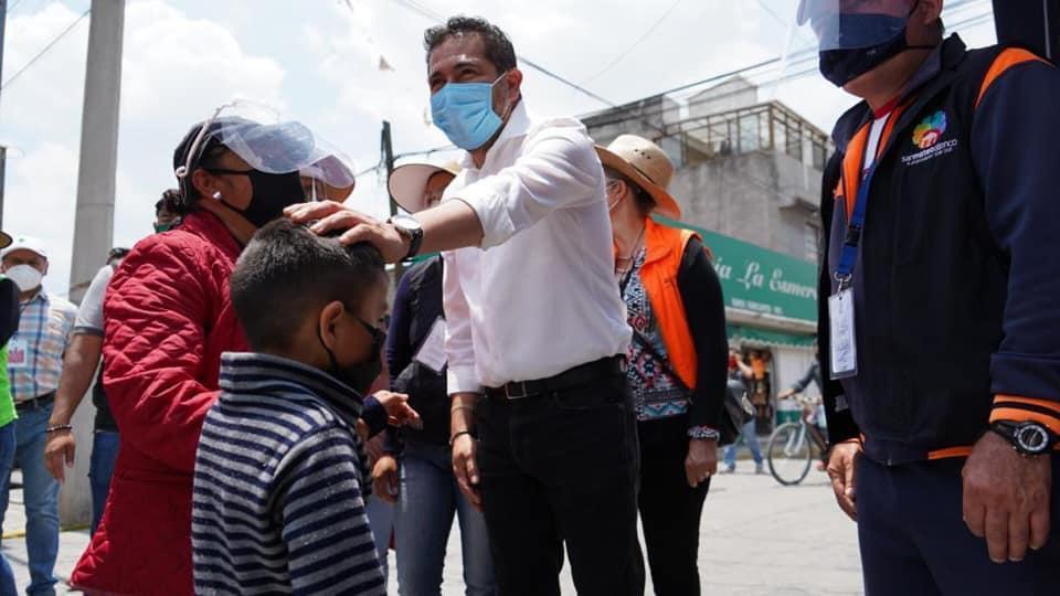 Supervisa César Serrano medidas sanitarias en zona comercial de San Mateo Atenco - Jul 27, 2020