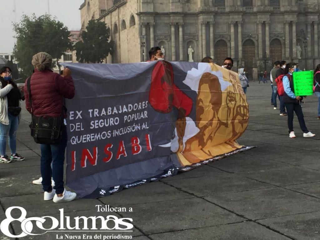 Se vuelven a manifestar extrabajadores del Seguro Popular, piden contratación en el INSABI - Jul 23, 2020
