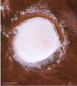 Hallan cráter cubierto de nieve en Marte - Jul 4, 2020