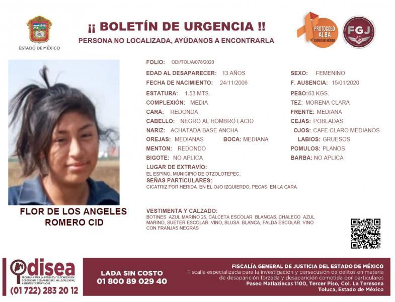 Hallan a niña que llevaba desaparecida desde principios de año en Toluca - Jul 31, 2020