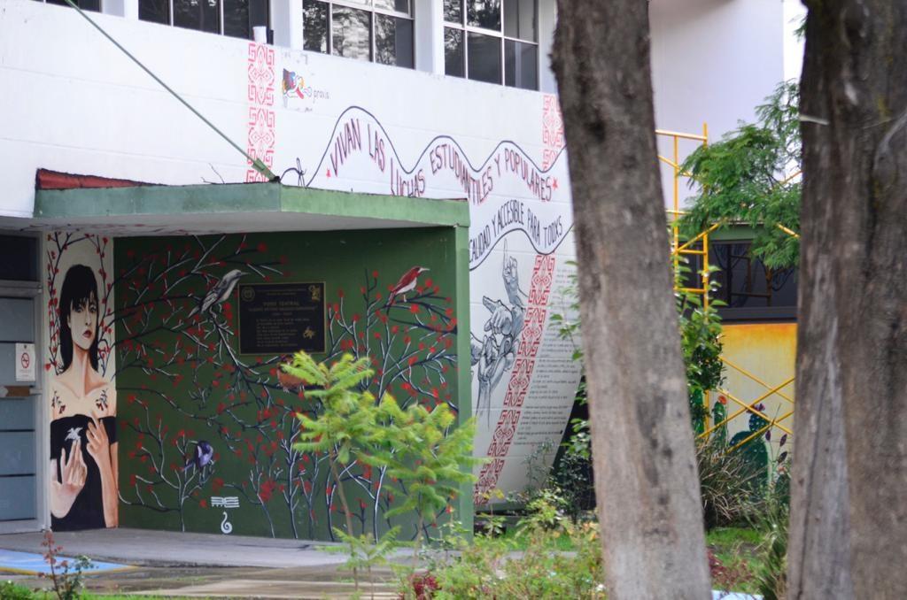 Defienden universitarios murales pintados en la Facultad de Humanidades UAEMéx - Jul 22, 2020