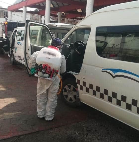 Sanitizan unidades de transporte público en Tenancingo - Jul 28, 2020