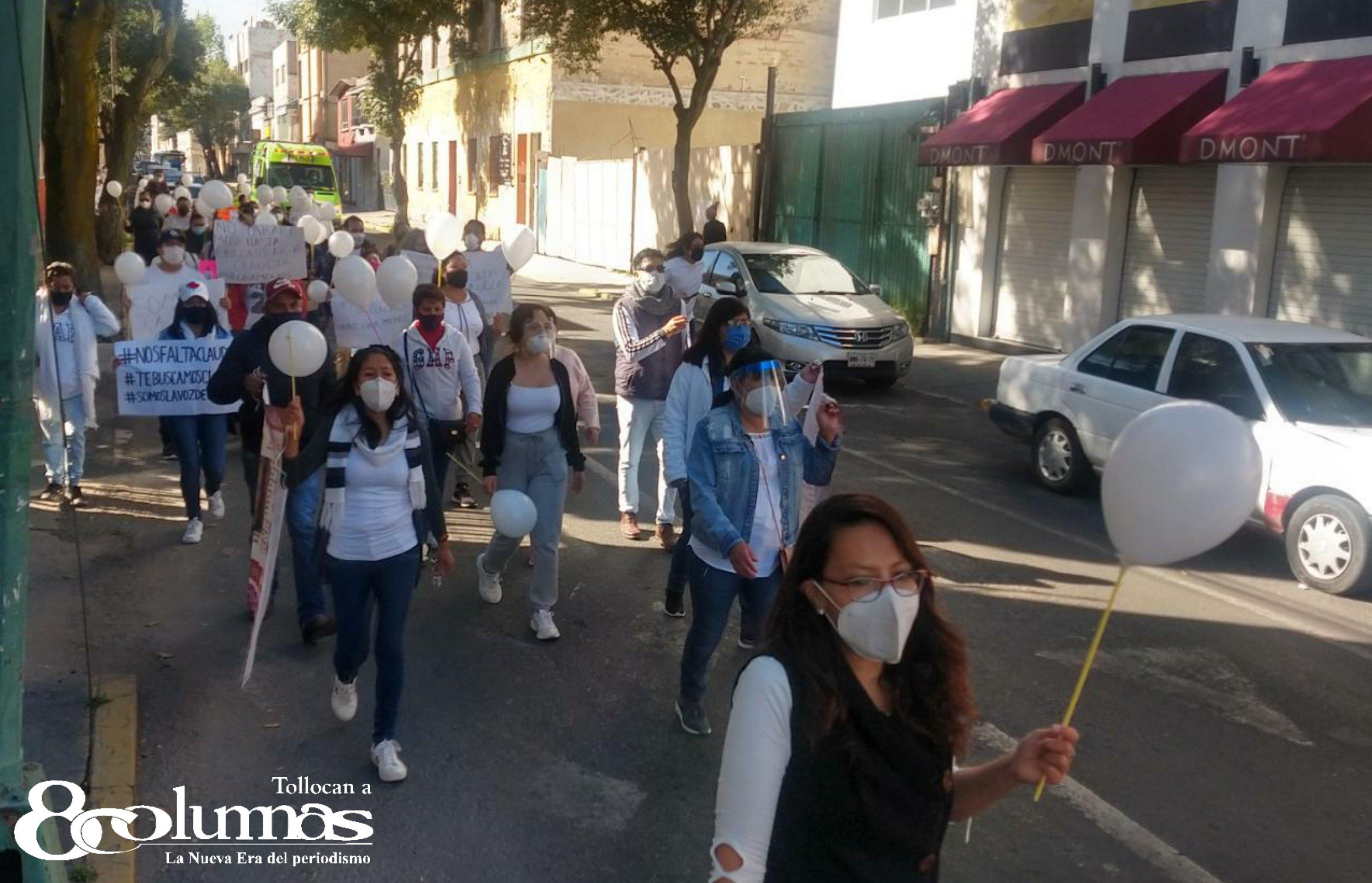 Marchan por Claudia Armada, enfermera desaparecida en Toluca - Oct 25, 2020