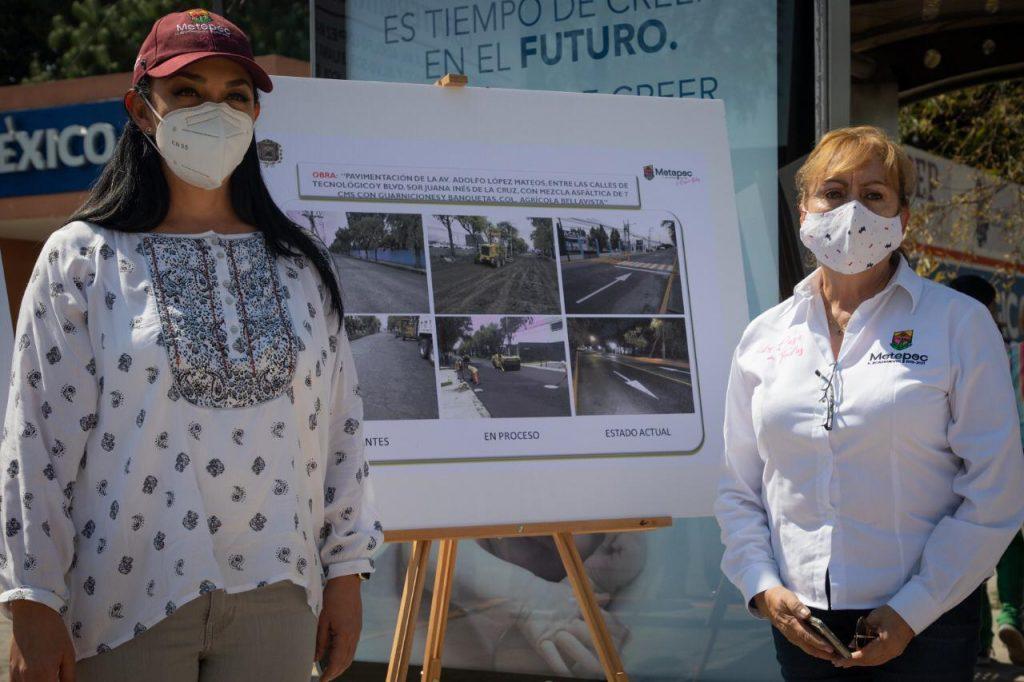Inaugura Gobierno de Metepec pavimentación de la calle Adolfo López Mateos - Nov 11, 2020