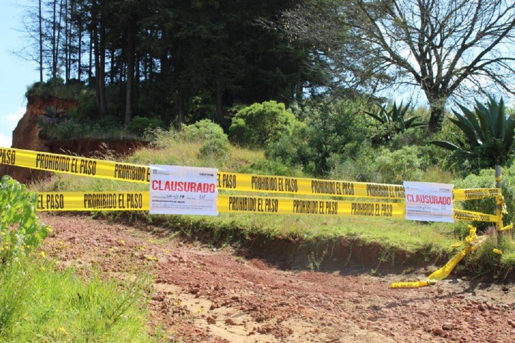 Clausura Propaem tres minas en Villa Victoria - Nov 3, 2020