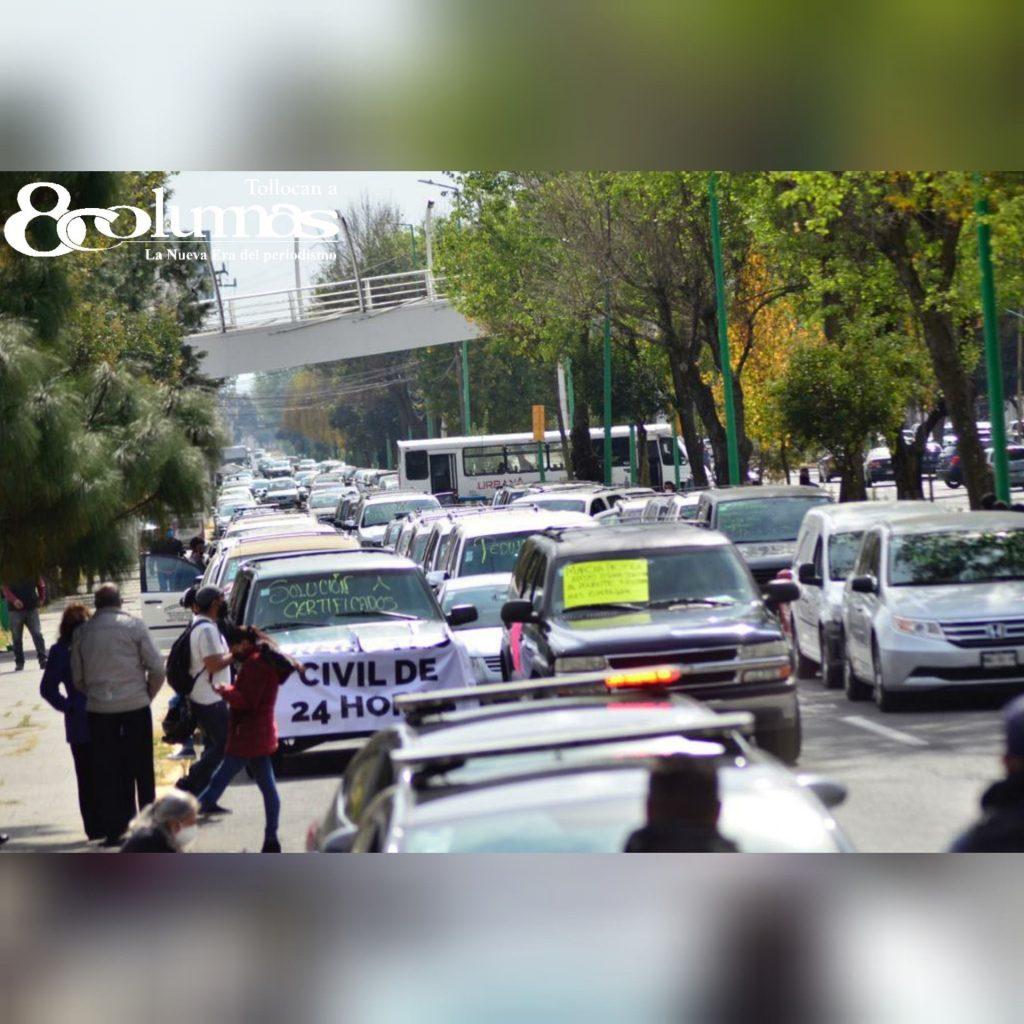 Se manifiesta gremio funerario en Toluca - Ene 7, 2021