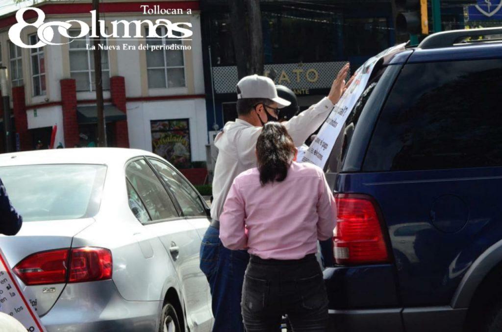 Se moviliza FRENA contra AMLO en Toluca - Ene 17, 2021