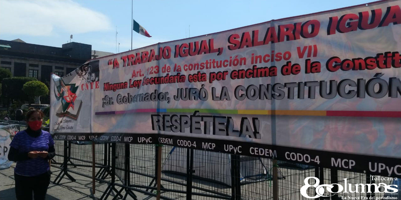 Maestros de la CNTE arman plantón en Toluca - Feb 22, 2021