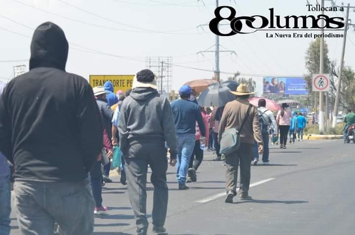 Ejidatarios se manifiestan en Tollocan, van al centro de Toluca - Mar 1, 2021