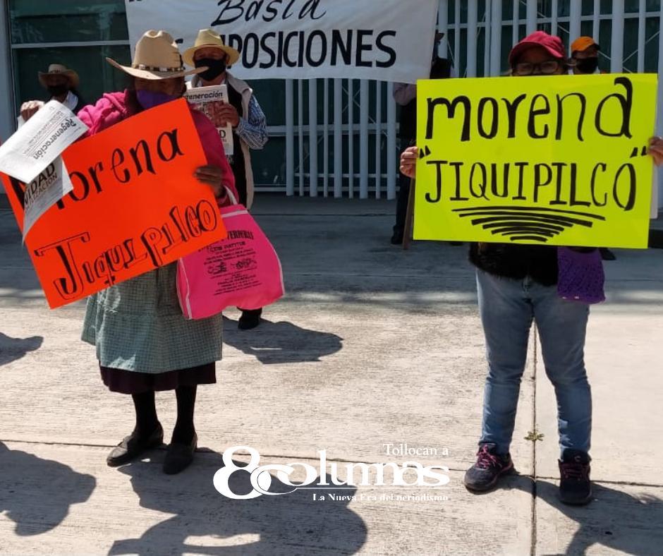 Inconformes habitantes de Jiquipilco por imposición de candidatos - Mar 30, 2021