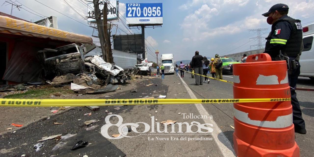 Accidente en la carretera México Toluca deja 3 muertos - Abr 13, 2021