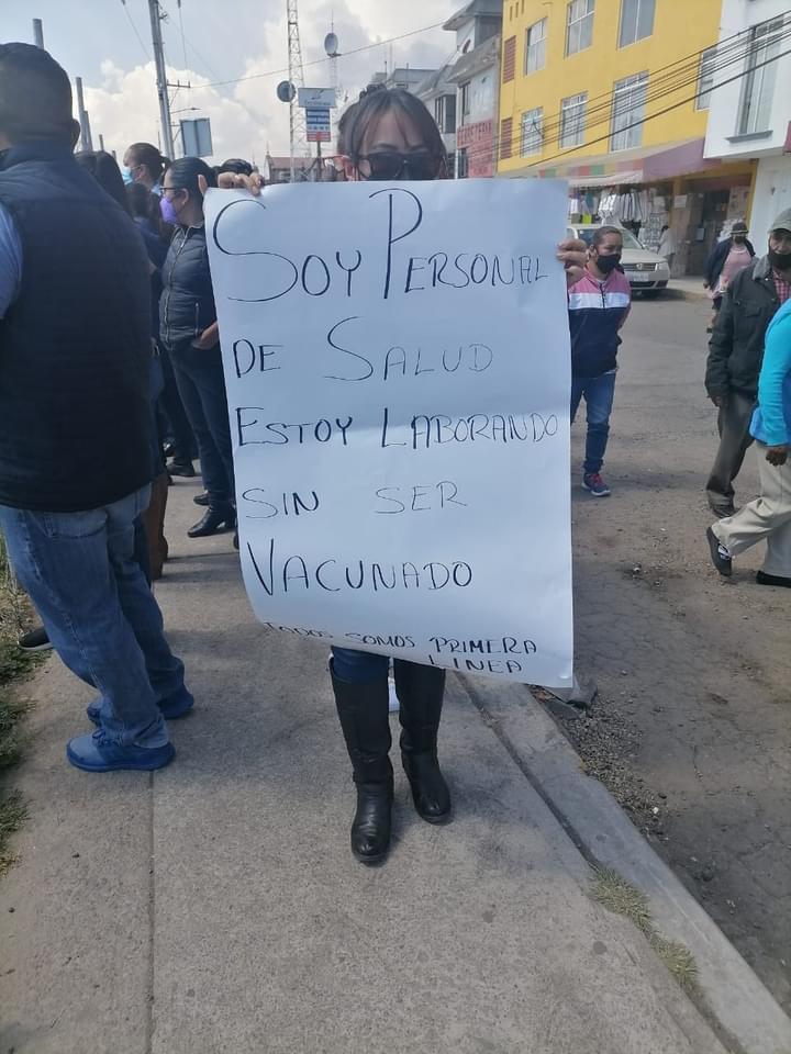 Personal médico de Almoloya de Juárez exige vacuna contra COVID - Abr 6, 2021