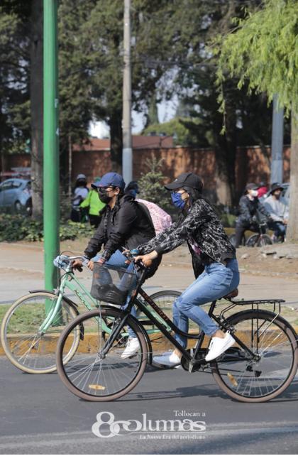 Visibilizan uso de bicicleta con rodada en el Valle de Toluca - Abr 25, 2021