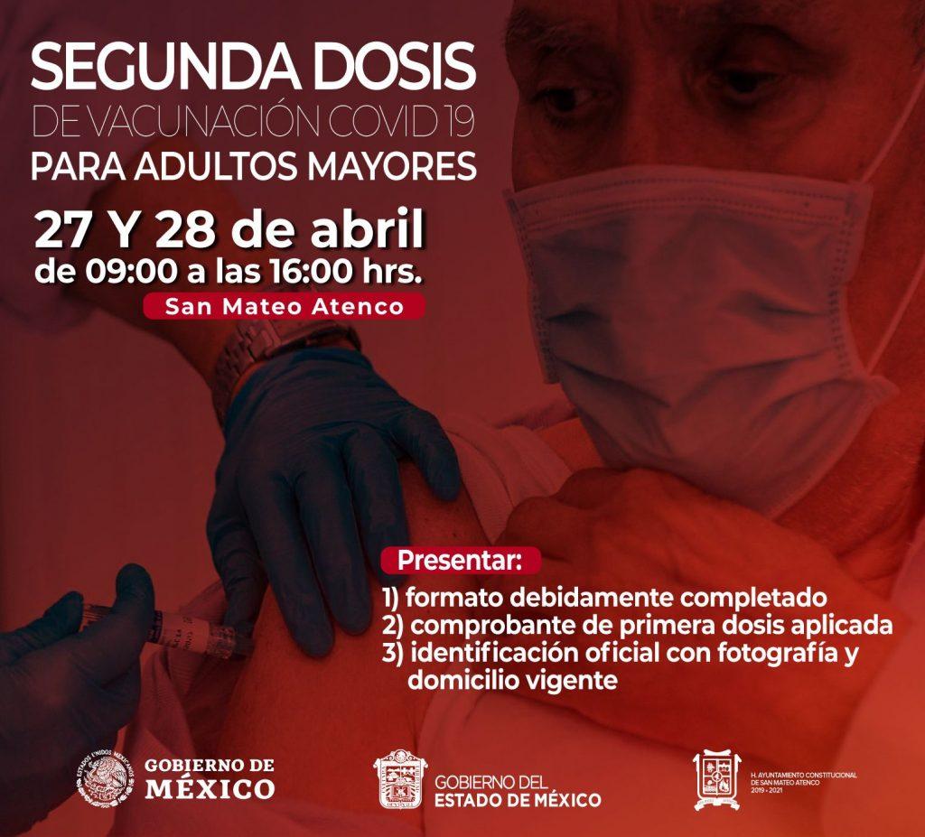 Segunda jornada de vacunación en San Mateo Atenco - Abr 26, 2021