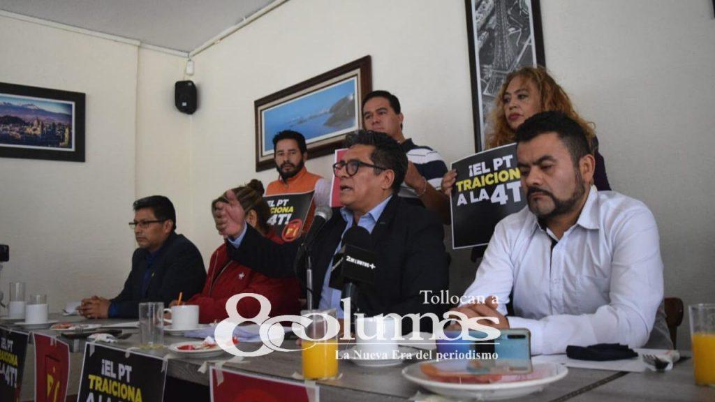 Militantes del PT en Ecatepec renuncian al partido - Abr 27, 2021