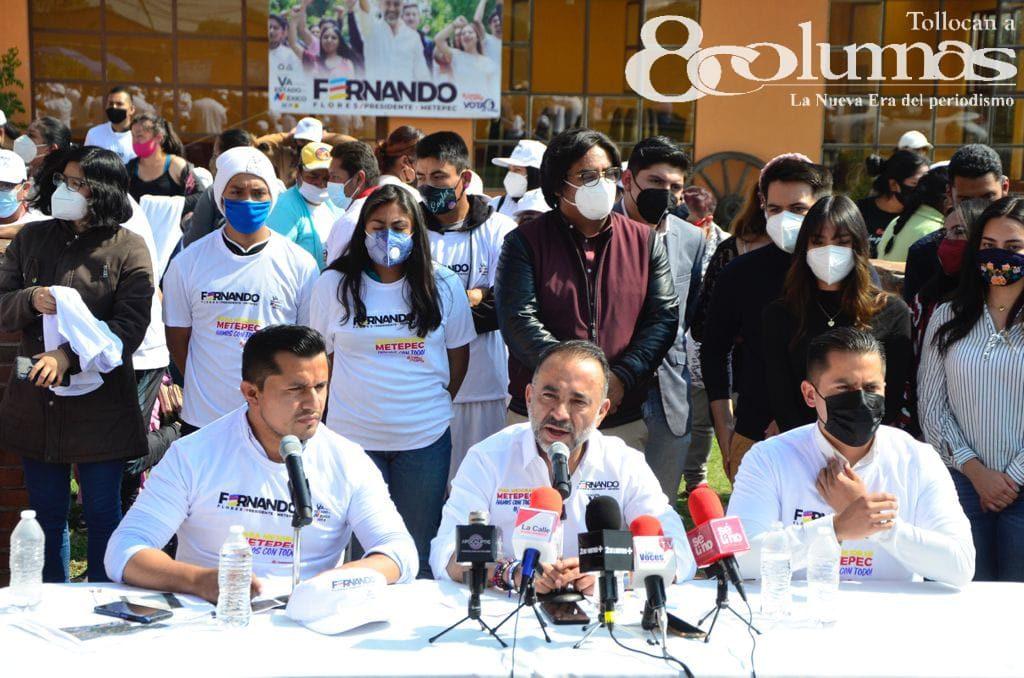 Vamos a regresar la dignidad de Metepec: Fernando Flores - May 12, 2021