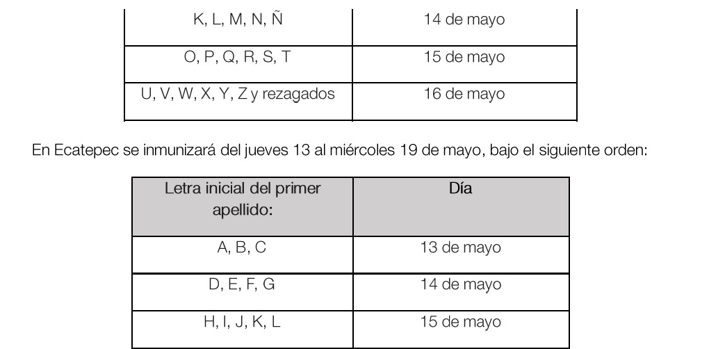 Iniciará vacunación en Nezahualcóyotl y Ecatepec - May 9, 2021