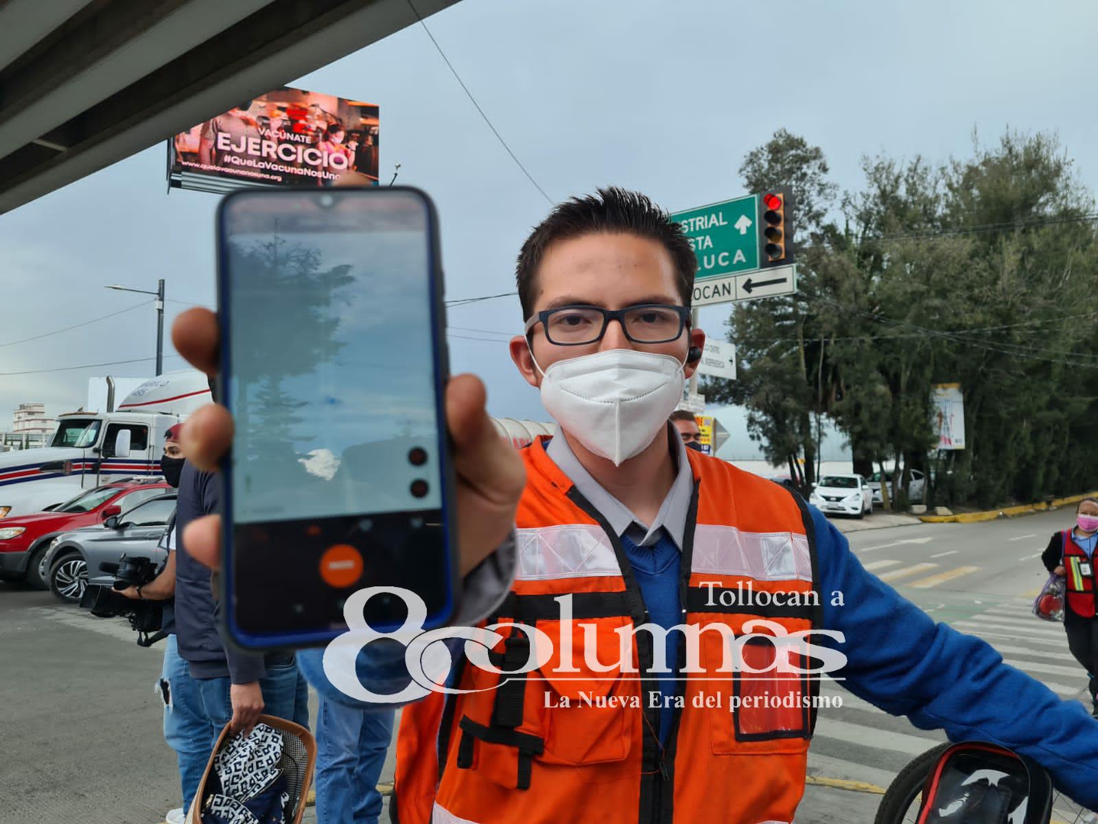 Marcan ruta segura para ciclistas del norte de Toluca - Ago 2, 2021