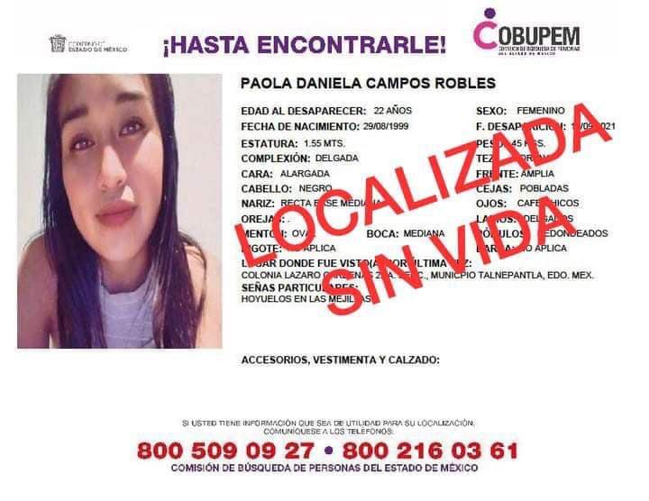 Tras once días de búsqueda, recuperan cuerpos sin vida de Paola y su hijo Dilan - Sep 22, 2021