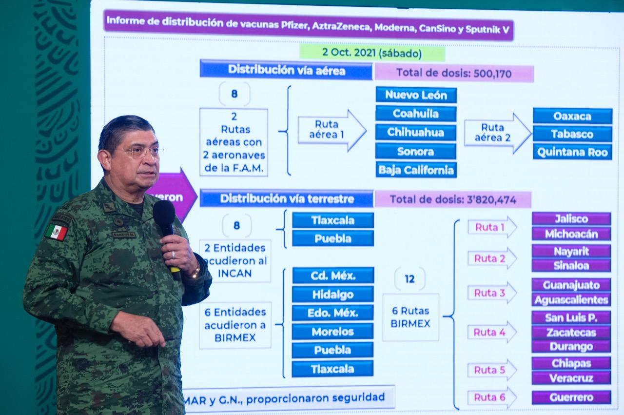 Andrés Manuel López Obrador llama a sumar esfuerzos para alcanzar meta en vacunación contra COVID-19 - Oct 12, 2021